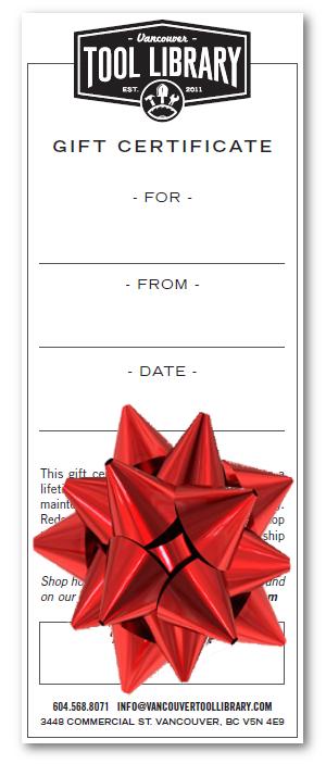 VTL Gift Certificate